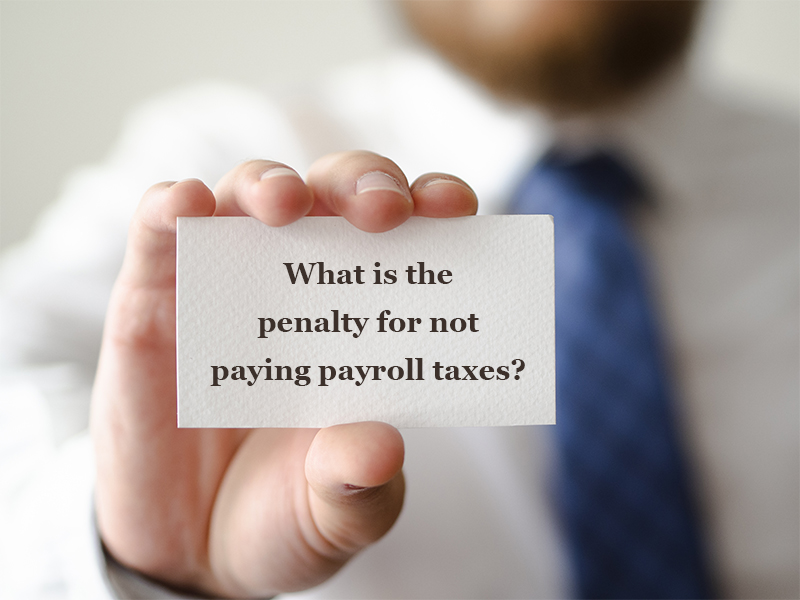 What is the penalty for not paying payroll taxes? | Talentpro India